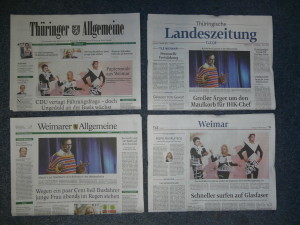 Suche den Unterschied: TLZ  und TA sind Weimars Lokalzeitungen